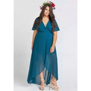 Show Me Your MuMu Sophia Deep Jade Wrap Dress XL
